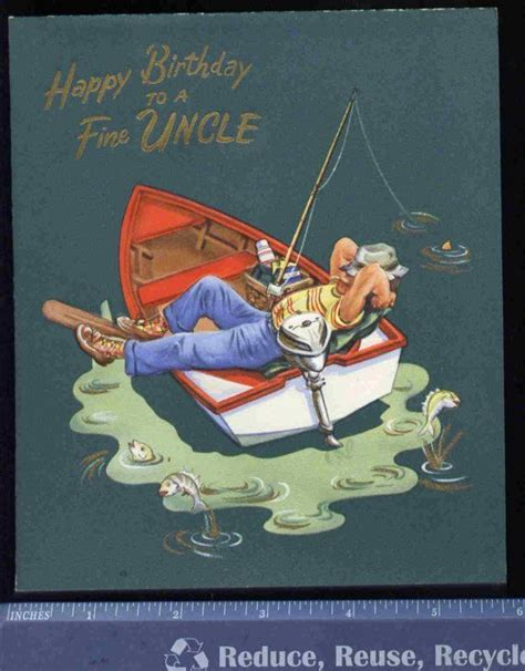 fishing boat birthday images vintage fishing boat birthday greeting card by