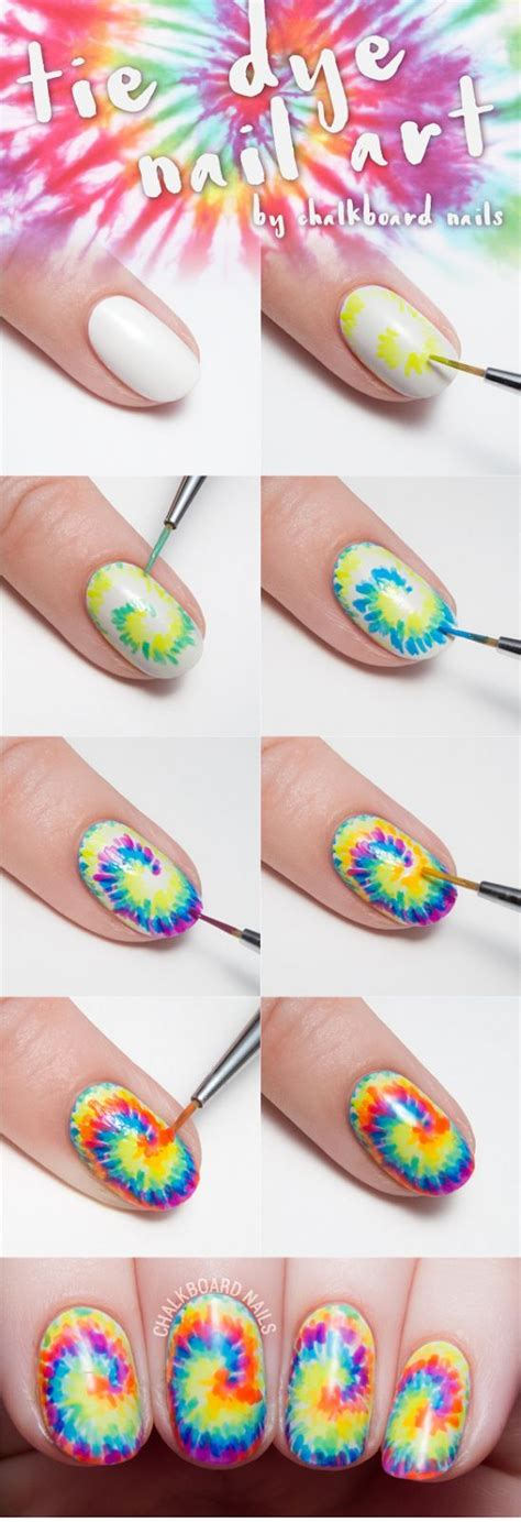 nail art kit tutorial tie dye your tips with this nail art tutorial and sneak
