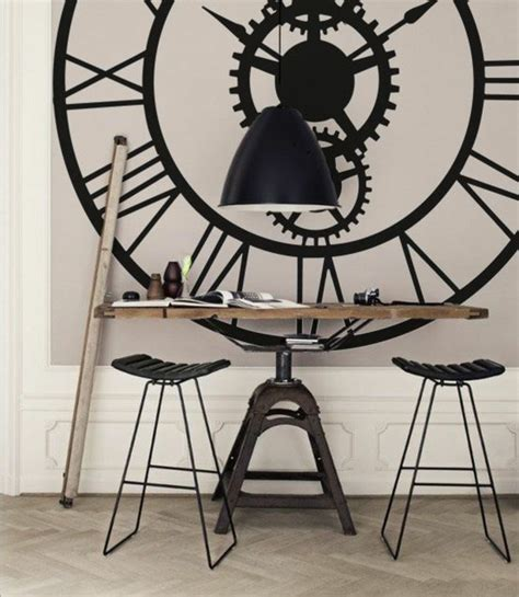 Shabby Chic Wall Mural 45 id 233 es pour le plus cool horloge g 233 ante murale