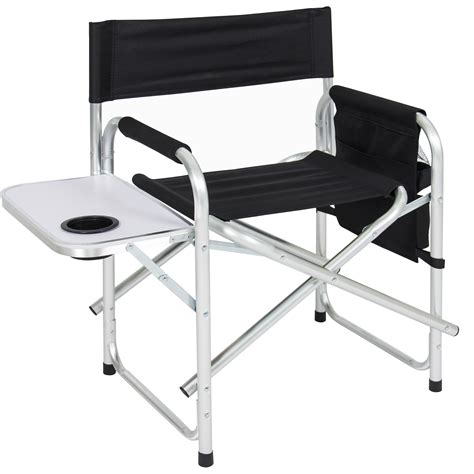 bcp aluminum folding picnic camping chair  table tray cup holder director seat ebay