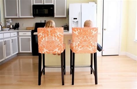 slipcovers for stools make oilcloth slipcovers for your ikea counter stools