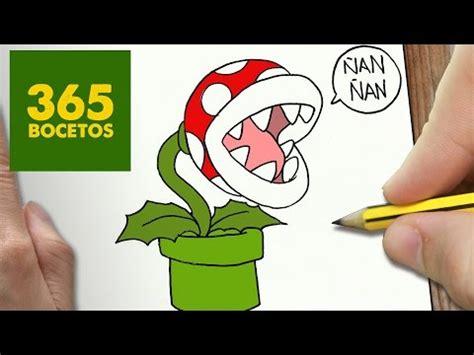 imagenes faciles para dibujar de mario como dibujar la planta pira 241 a de mario bros