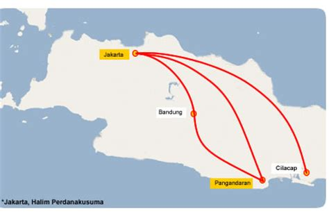 grand pangandaran map green pangandaran indonesia tourism
