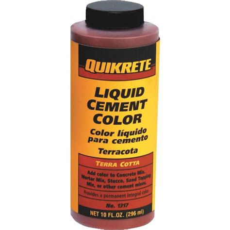 quikrete cement color quikrete 1317 04 liquid cement color terra cotta 10oz