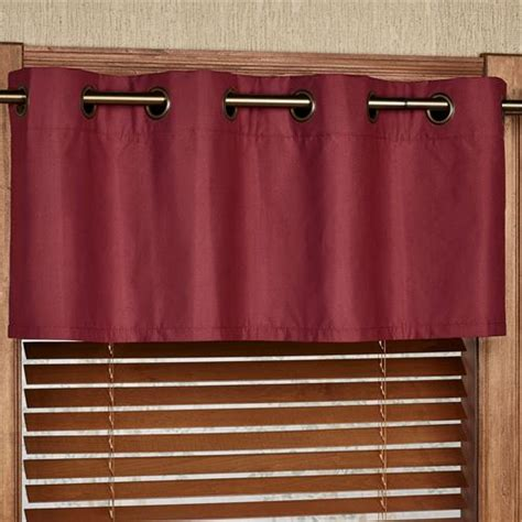 paramount curtain store paramount solid color grommet window valance