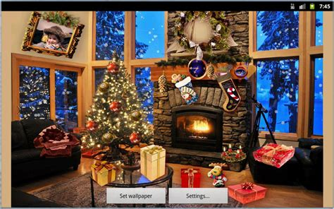 christmas fireplace lwp app android su google play