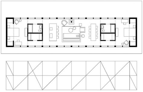 long house design open linear floor plan 2 minimalist home planning pinterest modern house