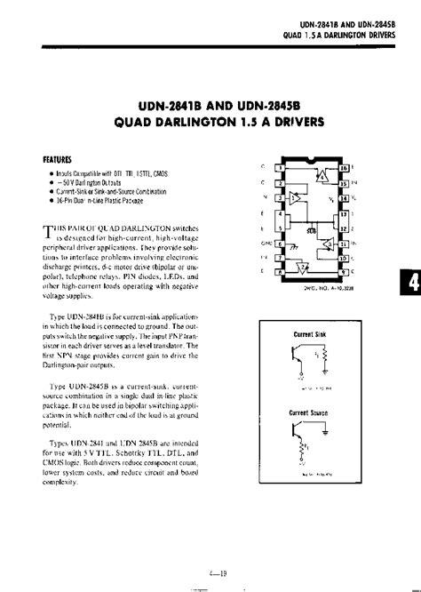 flywheel diode part number udn2841b 783594 pdf datasheet ic on line
