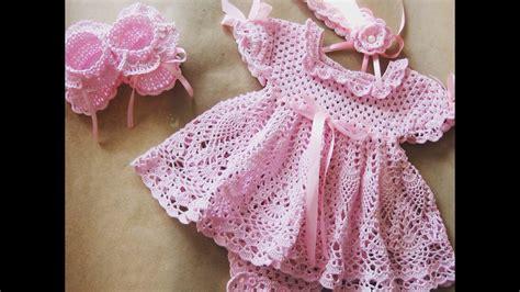 vestidos para bebes de tejido vestido tejido a crochet para bebe de 0 a 3 meses parte 1
