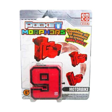Pocket Emco jual emco pocket morphers motorbike number 9 6882 original
