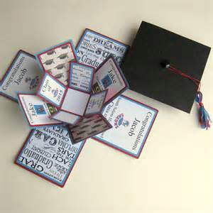 graduation card exploding box custom by bgardencreations on etsy