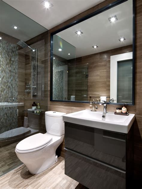 modern bathroom condo bathroom designed by toronto interior design www tidg ca banyom