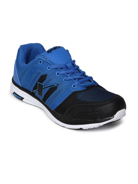 shopping mens sports shoes myntra sparx blue sports shoes 548082 buy myntra