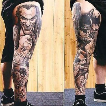 batman tattoo leg amazing raging bull tattoo idea