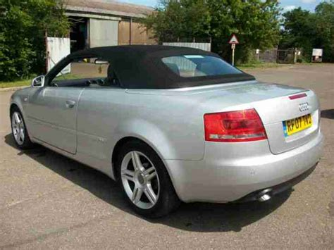 audi a4 convertible 2lt tdi diesel 2007 07 leather car