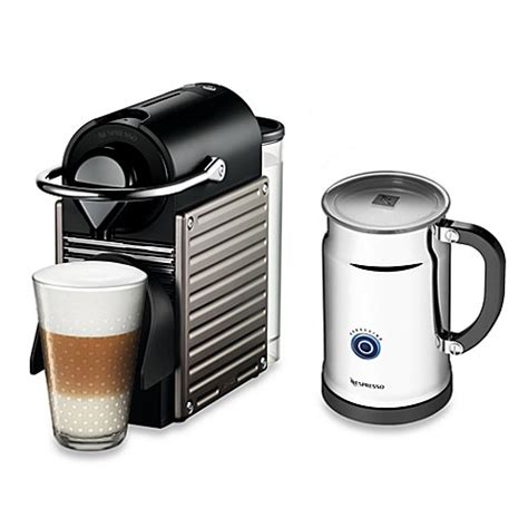 nespresso pixie bundle buy nespresso 174 pixie a c60 us ti ne espresso machine and aeroccino plus bundle in titanium from