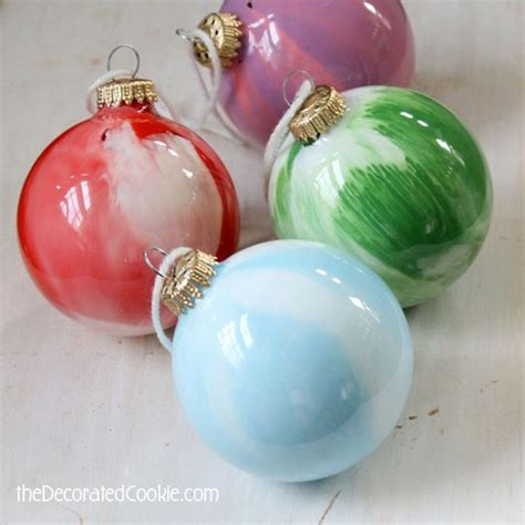 paint swirl christmas ornament craft for kids