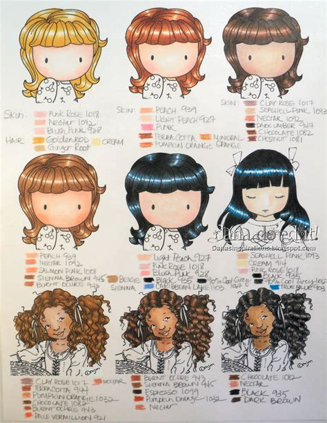 prismacolor skin tone colored pencils s inspirations coloring charts