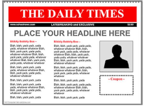 newspaper templates free 9 newspaper templates word excel pdf formats