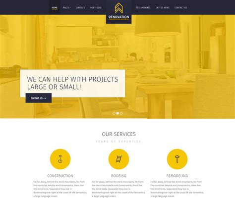 renovation websites 15 best construction business architects websites html