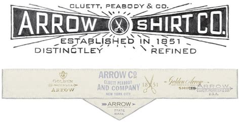 arrow cluett labels and packaging by glenn wolk via glenn wolk arrow cluett labels design work life