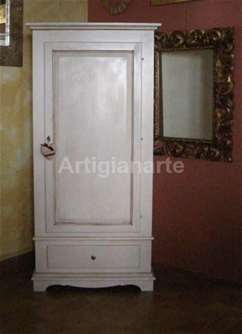 armadio bianco decapato armadio dritto un porta artigianarte