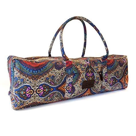 pattern for yoga mat bag with zipper yoga mat duffel bag patterned canvas with pocket and
