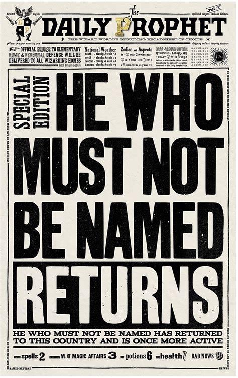 newspaper poster template daily prophet template hledat googlem hp forever