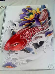 Koi Lotus Koi Fish With Lotus By J0oey On Deviantart