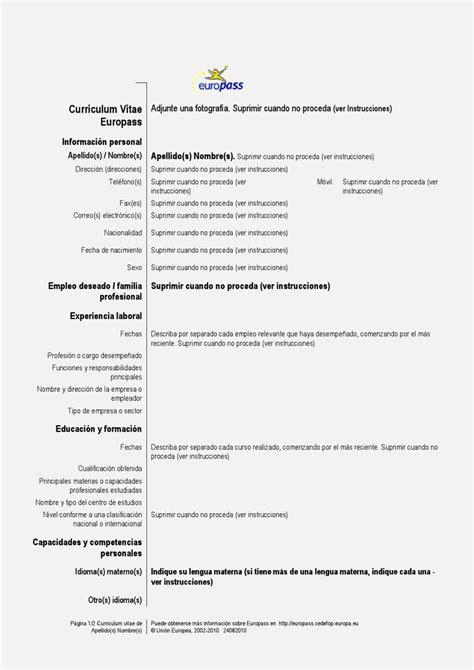 formato de curriculum vitae para llenar curriculum vitae formato para llenar laboral resume