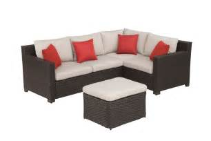 Outdoor Patio Shade by Hampton Bay Elmsley 5 Piece Outdoor Sectional Set The