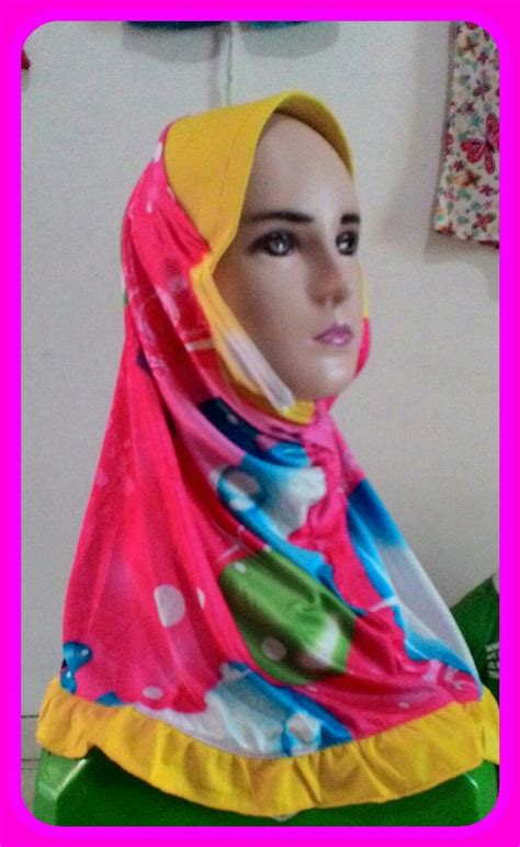 Konveksi Jilbab Anak sentra kulakan jilbab anak karakter lucu murah meriah 5000 peluang usaha grosir baju anak