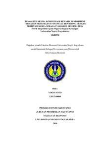 Skripsi Akuntansi Full Pdf | pengaruh skema kompensasi reward punishment terhadap