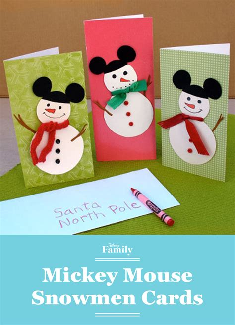mickey mouse snowmen cards disney holidays disney christmas crafts disney christmas cards