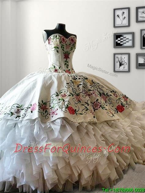 mexican themed quinceanera ideas mexican style western style quinceanera dress white