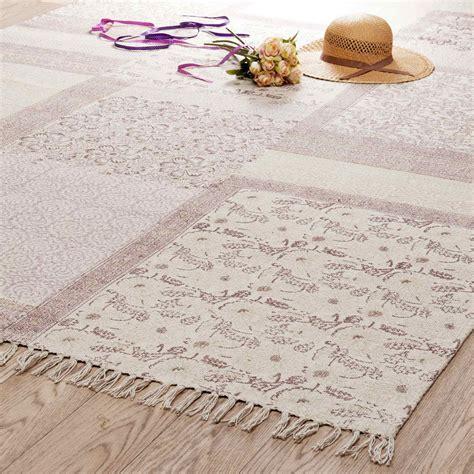 alfombra de pelos cortos de algodon rosa    cm menara maisons du monde