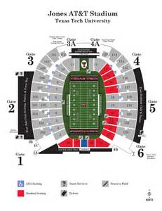 tech stadium map issuu 2015 jones at t stadium map by tech athletics