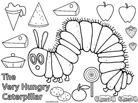 free hungry caterpillar coloring pages