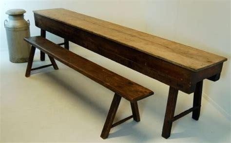antique table narrow kitchen elm pine