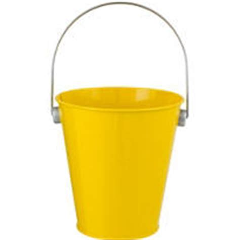 Yellow Pail Tin yellow metal favor pail 4 1 2in city
