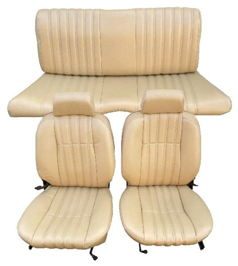 fiat spider leather seat covers 79 85 fiat 124 spider seat upholstery complete set front