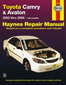 repair manual toyota camry 2002