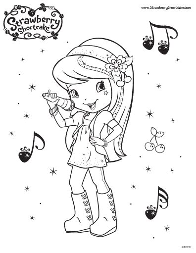 cherry jam colouring pages