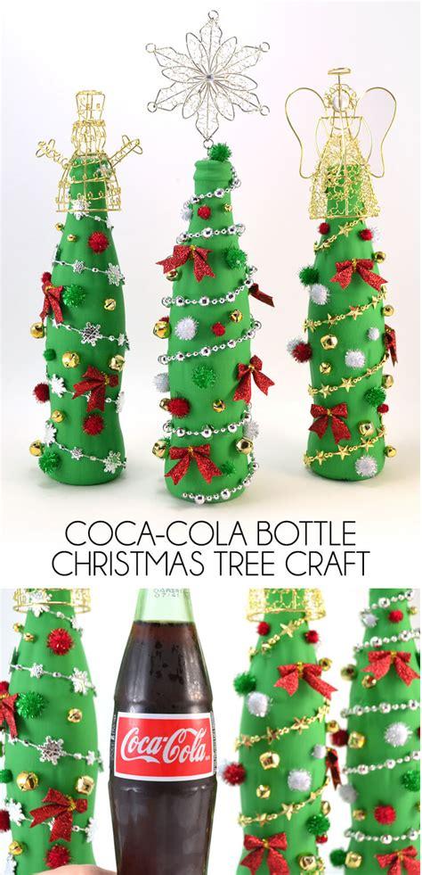 diy water bottle chrismast craft picture coca cola glass bottle tree craft a bigger
