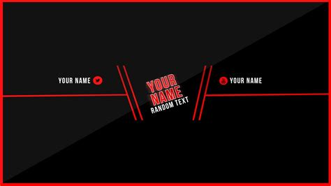 download youtube banner template clean youtube banner template free download