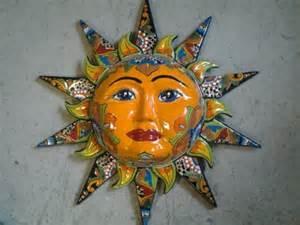 mexican pottery ceramic wall sun new wall decor