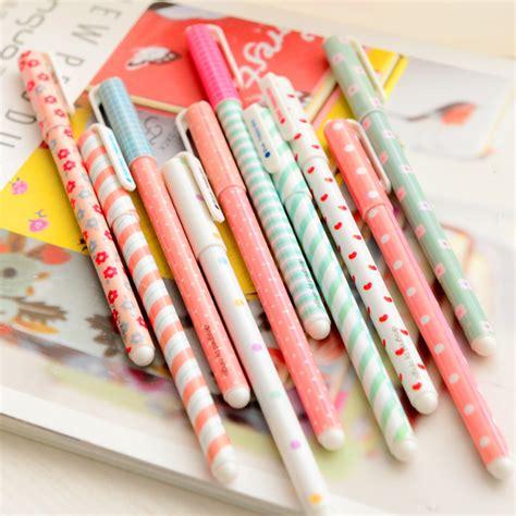 10 Pcs Set Color Gel Pen by 10 Pcs Set Color Gel Pen Kawaii Stationery Korean Flower