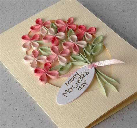mother day card paper daisy cards quilled mother s day card