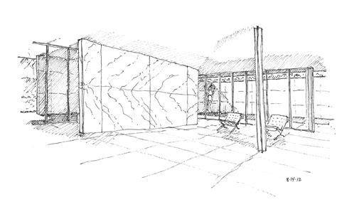 pavillon zeichnen barcelona pavilion drawing