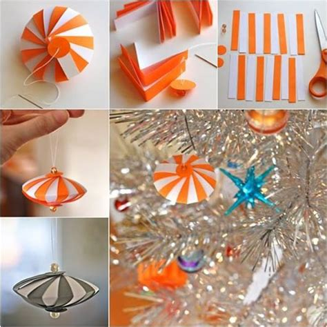 How To Make Ornaments With Paper - how to diy striped paper ornament
